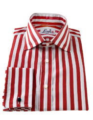red butcher stripe shirt