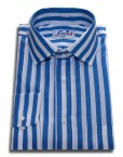 blue stripe shirt single cuff