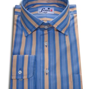 yellow and blue stripes shirt