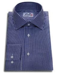 check shirt navy gingham