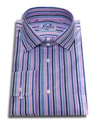 pink and blue candy stripes shirt