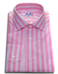pink stripes shirt single cuff