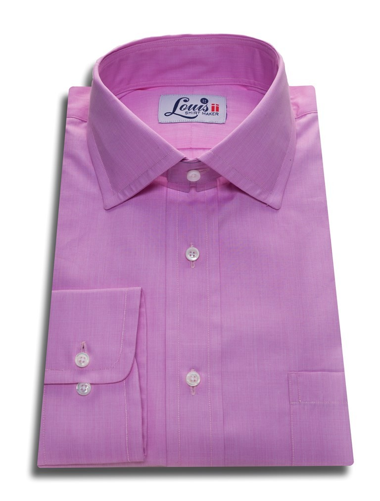 plain lilac single cuff shirt