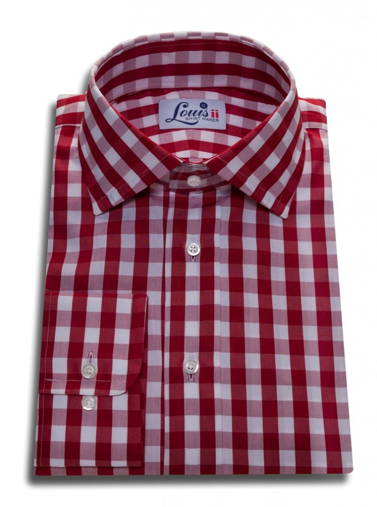 red check gingham shirt