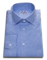 sky blue bengal stripes shirt single cuff