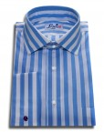 sky blue stripes shirt