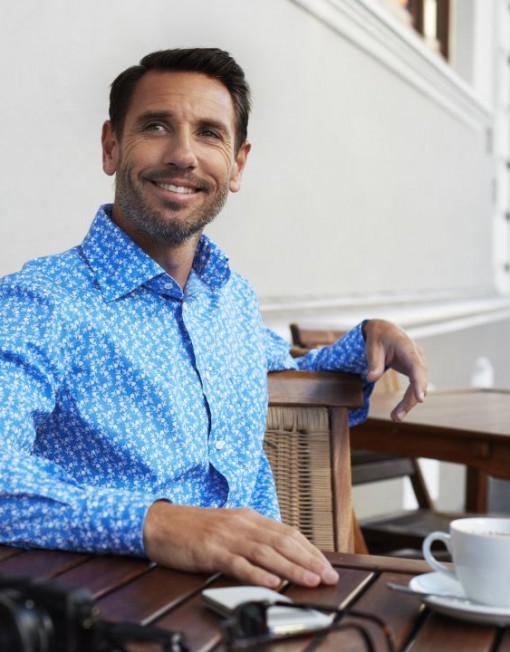 Louis ii Shirts blue floral