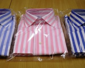 Louis ii Shirts sky blue, pink, and blue stripes