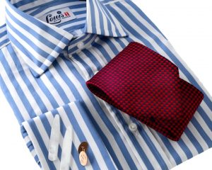 Louis ii Shirt sky blue stripes