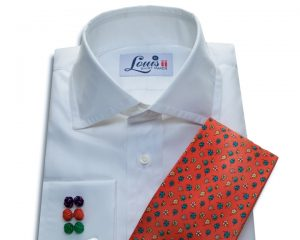 Louis ii Shirt plain white