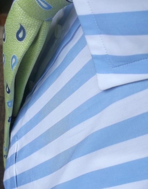 Louis ii Shirts sky blue stripes