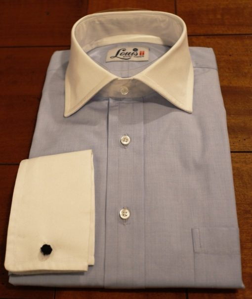 Louis ii Shirts white contrast collar
